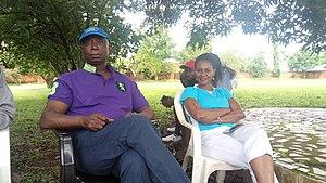 Mary Onyali-Omagbemi - Mary Onyali-Omagbemi and lawyer, Ned Nwoko, at the Ned Nwoko Golf Classic Tournament, Idumuje-Ugboko, Delta State, Nigeria. 20 May, 2017.
