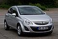 Opel Corsa 1.4 ecoFLEX Satellite (D, Facelift) – Frontansicht, 31. Juli 2012, Heiligenhaus.jpg