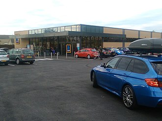 Aldi - An Aldi in Wetherby, West Yorkshire, England.
