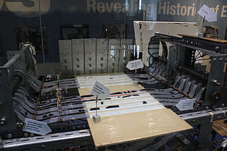 Daphne Oram - Oramics machine displayed at the Science Museum, London (2011)