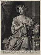 Ortensia Mancini, Duchess of Mazarin by Gerard Valck, after Sir Peter Lely.jpg