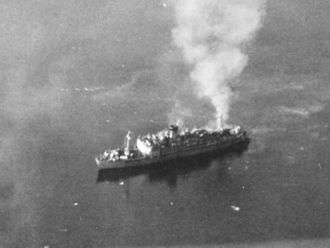 Arthur W. Wermuth - The Oryoku Maru under attack at Olongapo, Luzon, December 14–15, 1944
