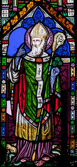 Our Lady's Island Church of the Assumption East Aisle Window Saint Patrick 2010 09 26.jpg