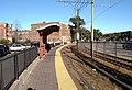 Outbound platform at Harvard Avenue station, October 2016.jpg