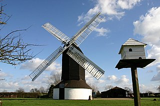 Outwood Windmill post mill in Outwood, Surrey, UK