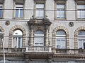 Pálffy house (1892). Balcony. - 29 Erzsébet Boulevard, Budapest.JPG