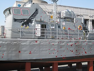 Chamsuri-class patrol boat - Image: PKM 357 mid and Bridge section