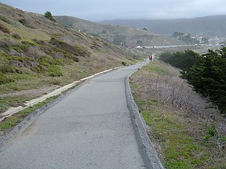 Pacifica State Beach - Image: Pacifica State Beach trail 1