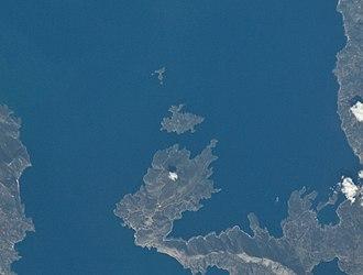 Trikeri - Satellite view of Trikeri