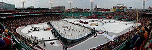 2010 NHL Winter Classic - Panorama of the park prior to the game.