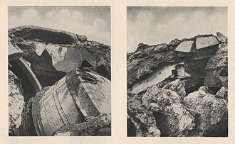 Big Bertha (howitzer) - Ruins of the Fort de Loncin, 1914
