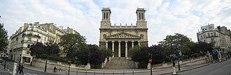 Saint-Vincent-de-Paul, Paris - Panoramic view of the church