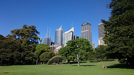 Royal Botanic Garden, which is the oldest scientific institution in Australia. Park in Sydney.jpg