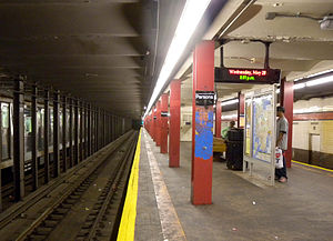 Parsons Boulevard (IND Queens Boulevard Line) - Express tracks
