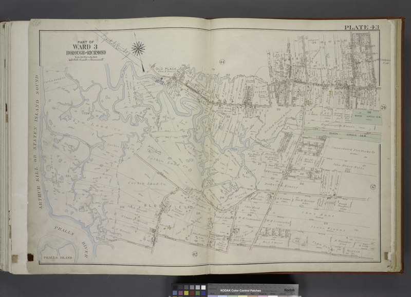 File:Part of Ward 3. (Map bound by Sedge Pond, Old Place Creek, Western Ave, Washington Ave, John St, Northfield Ave (Franklin Ave), South Ave, Harbor RD, Brabant St (Beech), Union Ave, Lisk Ave, NYPL1646263.tiff