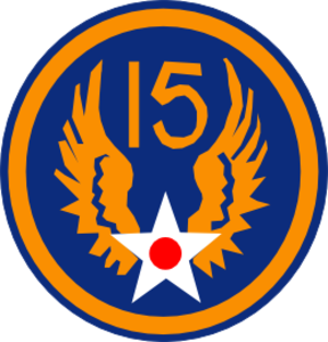 454th Bombardment Group - Image: Patch 15th USAAF