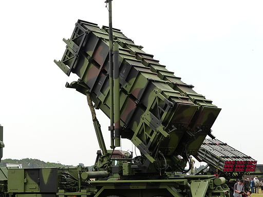 Patriot PAC-2 Launcher Display at Hukou Camp Ground Close up 20140329