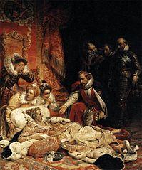 Mort d'Elisabeth, reine d'Angleterre, en 1603