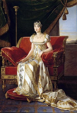 Pauline Bonaparte - Portrait by Marie Guilhelmine Benoist, 1808