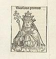 Paus Nicolaas I Nicolaus primus (titel op object) Liber Chronicarum (serietitel), RP-P-2016-49-57-3.jpg