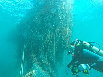 Pearl and Hermes Atoll - This monster net found at Pearl and Hermes in 2014 weighed 11.5 tons
