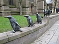 Penguins on the wall - geograph.org.uk - 1804952.jpg