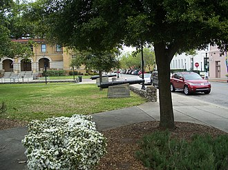 Plaza Ferdinand VII - Another view with the T. T. Wentworth, Jr. Florida State Museum in the background