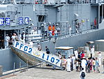 People Aboarding ROCN Tzu I (PFG-1107) in Zhongzheng Naval Base Open Day 20130504a.jpg