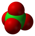 Spacefill model of perchlorate