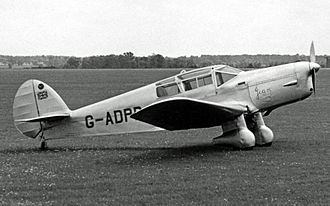 Jean Batten - Batten's record-breaking Percival Gull Six named Jean on its engine cowling at a 1954 UK air show