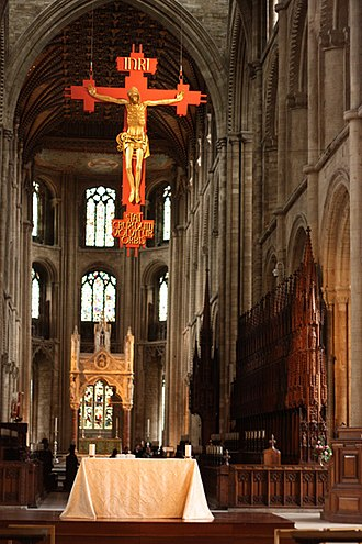 Frank Roper - Crucifixion, Peterborough Cathedral (1974)