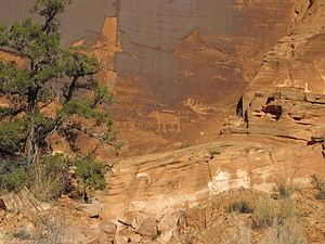 Moab, Utah - Native American petroglyphs southwest of Moab