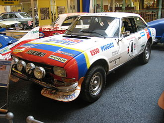 Peugeot 504 - Jean-Pierre Nicolas and Jean-Claude Lefèbvre won the 26th Safari Rally driving a Peugeot 504 V6 Coupé