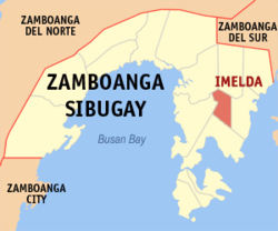 Map of Zamboanga Sibugay with Imelda highlighted