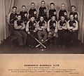 Photograph of Deseronto Baseball Club, Bay of Quinte League Champs, 1950, taken by McCormick's Studio. Shows K. Brant; Don Kimmett, Coach; Charlie Tinney; J. Rodgers; F. Smith; W. Wood, Manager; Gord (3592944528).jpg