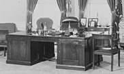 Theodore Roosevelt desk in the Truman Oval Office