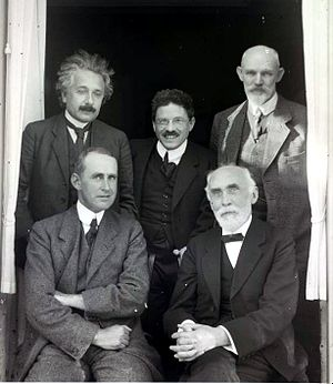 Willem de Sitter - Einstein, Ehrenfest, Willem de Sitter, Eddington, and Lorentz in Leiden (1923)