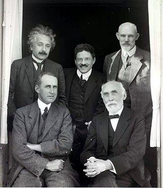 Willem de Sitter - Einstein, Ehrenfest, Willem de Sitter, Eddington, and Lorentz in Leiden (1923)