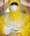Pictured is a member of the Medical Team based at Wilberforce Barracks Freetown, Sierra Leone. MOD 45159044.jpg