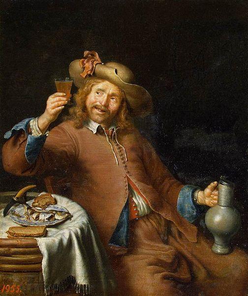 File:Pieter Cornelisz. van Slingelandt - Breakfast of a Young Man - WGA21471.jpg