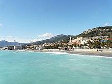 Il litorale di Pietra Ligure