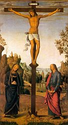 Pietro Perugino: The Crucifixion with the Virgin, Saint John, Saint Jerome, and Saint Mary Magdalene [middle panel]