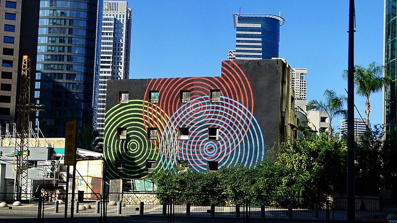 ציור קיר במתחם הבורסה ברמת גן