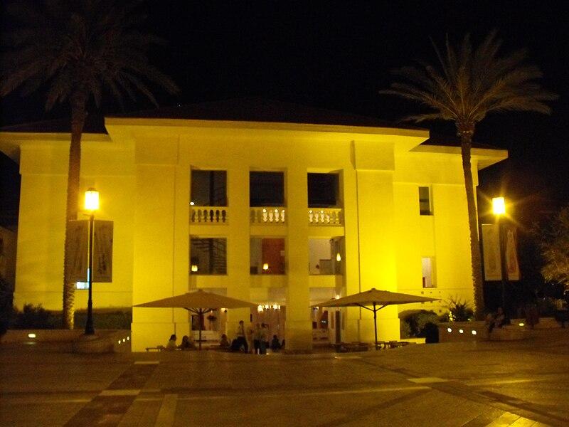 מרכז סוזן דלל בלילה