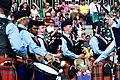 Pipers Gordon Conn (l) Calgary, Will Nichols, Blain, Wa with the drum corps (7761884006).jpg