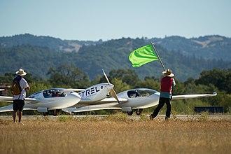 Centennial Challenges - Pipistrel Taurus G4, the 2011 Green Flight Challenge winning aircraft of Pipistrel USA.com team, taxiing at the event.