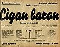 Plakat za predstavo Cigan baron v Narodnem gledališču v Mariboru 11. februarja 1940.jpg