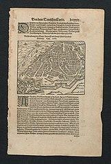 Plan van Antwerpen en de citadel