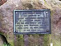 Plaque attached to the base of the cross at Clayton. - geograph.org.uk - 1125726.jpg
