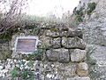 Plaque reminding old castle of Bilibio, (Haro, Rioja, Es) PB080023.jpg